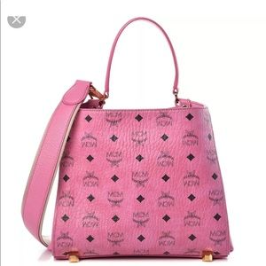 NEW MCM VISETOS CORINA PINK TOTE  SHOULDER BAG
